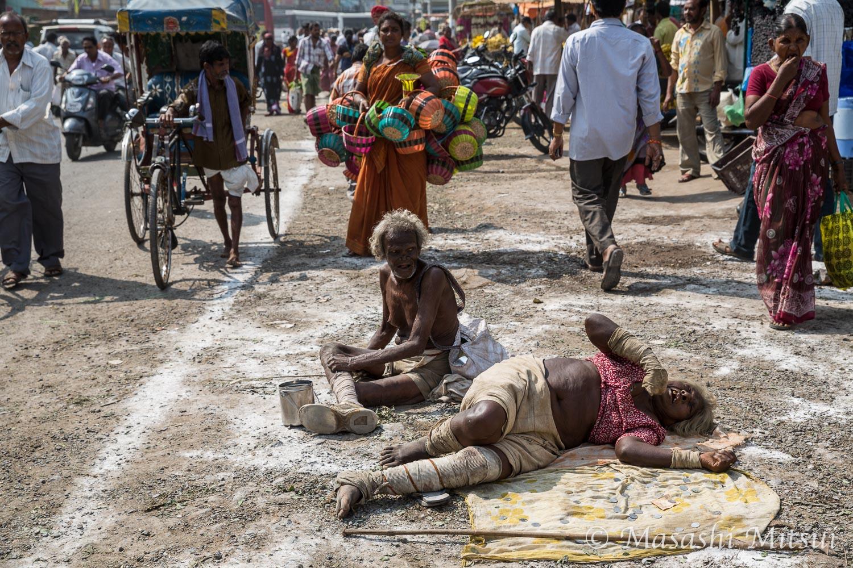 インド旅行記2015(35) 物乞い...