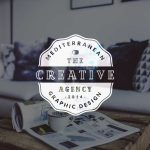Creative agency logo: light version